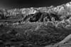 California, Eastern Sierra, Alabama Hills, Mount Whitney, Dawn Twilight, Rocks, Landscape, Black and White, 加利福尼亚, 惠特尼峰, 黎明, 风景, 黑白摄影