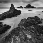 Watching Ocean Flows in Monochrome.  I shot this at Pfeiffer Beach near Big Sur.