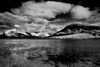 Canaian Rockies, Banff National Park, Vermilion Lake,  Booming Clouds, Landscape, Black & White, 加拿大, 班夫国家公园 黑白摄影, 风景