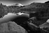 Colorado, Rocky Mountain National Park, Bear Lake, Reflection, Sunset,Landscape, Black and White, 科罗拉多 落矶山国家公园 秋色, 风景, 黑白摄影