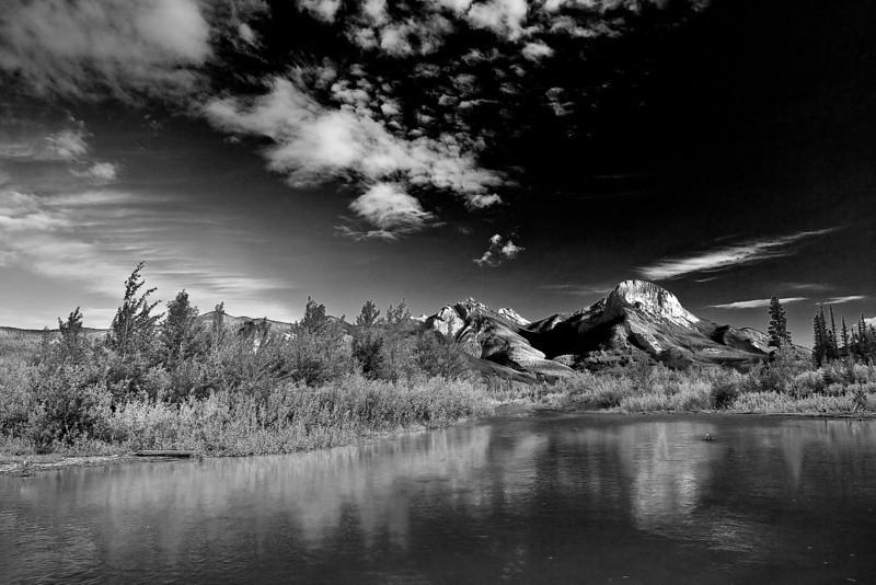 Canaian Rockies, Jasper National Park,  Landscape, Black & White, 加拿大 贾斯珀国家公园 黑白摄影, 风景