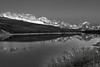 Montana, Glacier National Park, Lake Sherburne, Reflection, Landscape, Black and White, 蒙大拿, 冰川国家公园, 风景, 黑白摄影