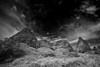 Utah, Arches National Park, Devils Garden, Sunrise Black White Landscape Art 犹他, 拱门国家公园 黑白摄影, 风景