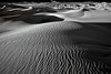 California, Death Valley National Park, Mesquite Dunes, Sunset, Landscape, Black and White, 加利福尼亚, 死亡谷国家公园, 落日, 风景