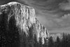 California, Yosemite National Park, El Capitan, Winter, Snow Black White Landscape Art 加利福尼亚 优胜美地国家公园 冬 黑白摄影, 风景