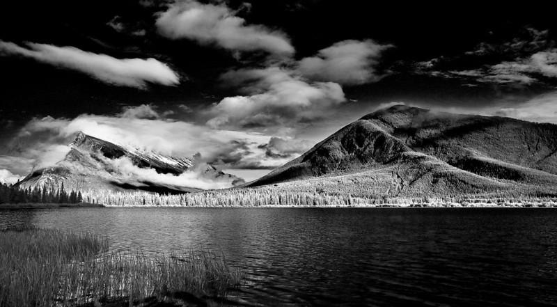 Canaian Rockies, Banff National Park, Vermilion Lake,  Landscape, Black & White, 加拿大, 班夫国家公园 黑白摄影, 风景