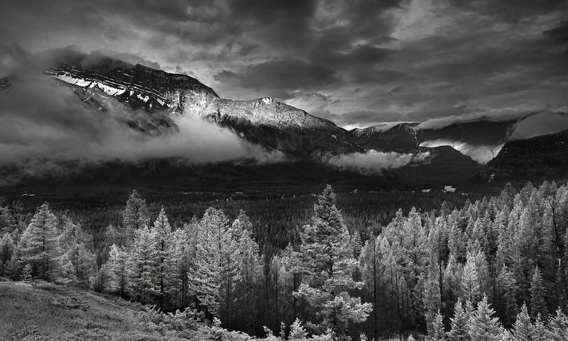 Canaian Rockies, Banff National Park, Landscape, HDR, Black & White,  加拿大, 班夫国家公园 黑白摄影, 风景