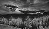 Canaian Rockies, Banff National Park, Landscape, HDR, Black & White,  加拿大, 班夫国家公园 黑白摄影, 风景