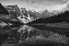 Canadian Rockies, Banff National Park, Moraine Lake, Landscape, Black-White, HDR, 加拿大, 班夫国家公园 黑白摄影, 风景