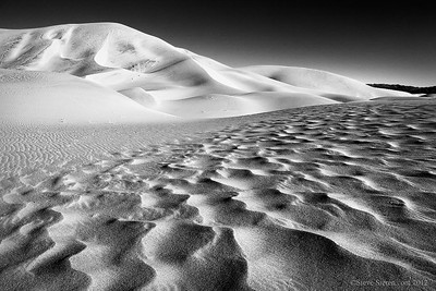 Texture in the Eureka Sand Dunes at Death Valley.
