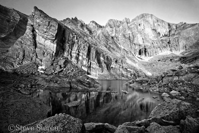 Under the Diamond ll - Longs Peak, Colorado  BW