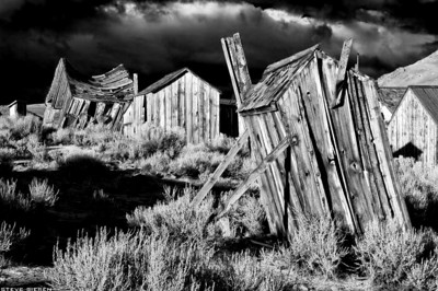 Timeless Bodie State Park, California The leaning out house no longer stands