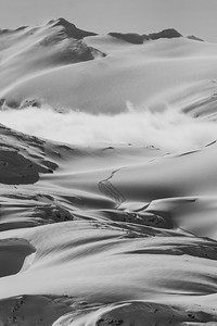 Heaven - a skiers dream, just friends and all the terrain you can handle. This is a shot from my recent time in Revelstoke area showing the Blanket Glacier