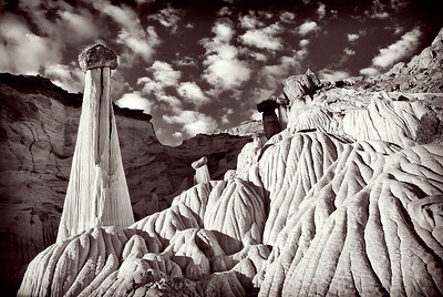 "bw25:  The ""Towers of Silence""; Wahweap Wash hoodoos; Grand Staircase Escalante National Monument"