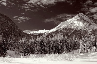 bw05:  Kessler Peak, Big Cottonwood Canyon, Wasatch Mountains.  Bill's original capture was on film.