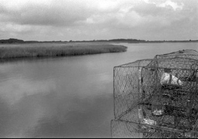 Crab Pots at the Point.  Messick Point in Poquoson, VA September 2003
