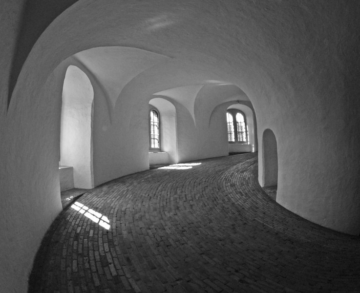 Ramp in The Round Tower of Copenhagen, Denmark.