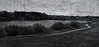 """""""Lost Lake""""<br /> B&W photo merged with copy of scruffed wall. Bastrup Lake seen from the Bastrup Stonetower."""