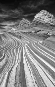 Stripes. Sand Cove, near The Wave, at North Coyote Buttes on the Paria Plateau in northern Arizona.