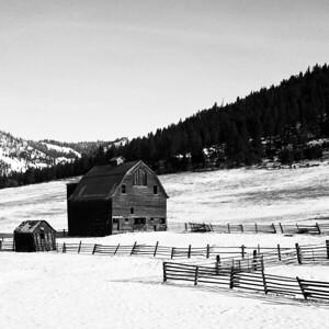 Winter Barn - Liberty, Washington