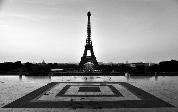 Eiffel Tower before Sunrise - Paris, France