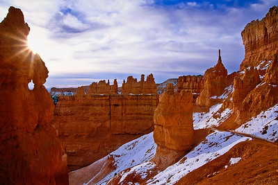Winter sun on Bryce Canyon