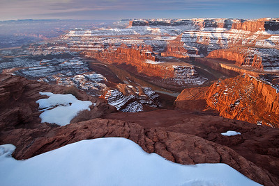 Winter sunrise at Dead Horse Point State Park, southern Utah