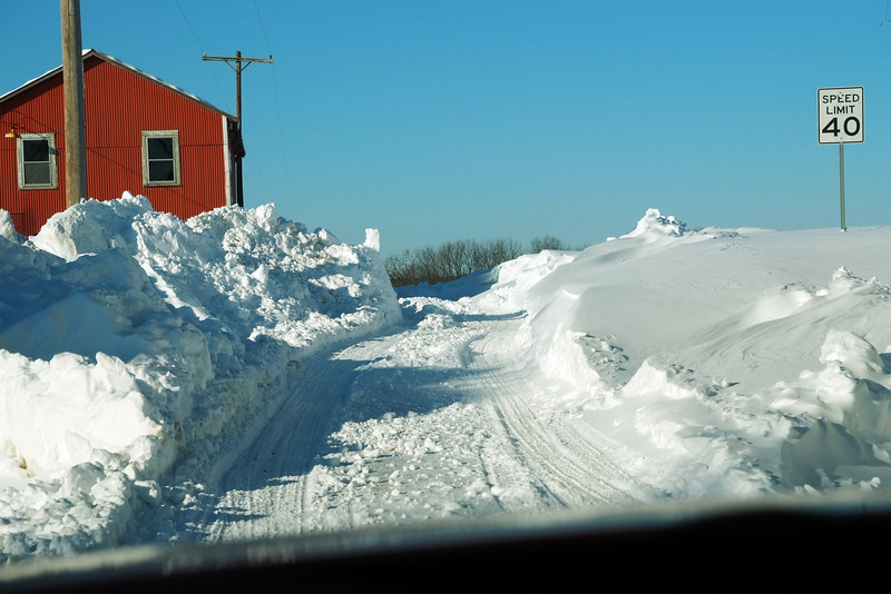 Notice the speed limit sign - this is a road, not a driveway...