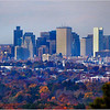 Boston skyline from Buck Hill. November, 2014.