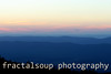 Blue Ridge Mountain sunset with palette of color