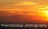 Colorful fiery Blue Ridge mountain sunset