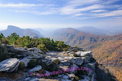Linville Gorge from the Hawksbill Mountaintop.
