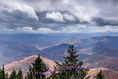 View from the Devil's Courthouse, along the Blue Ridge Parkway.