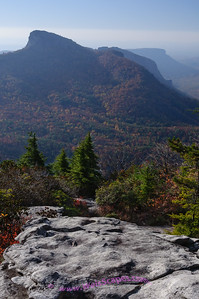 Linville Gorge from Hawksbill mountain.