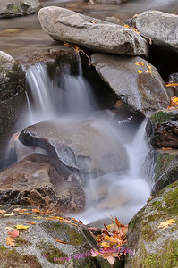 Cascade, Rainbow falls trail in Great Smokey Mountain National Park.
