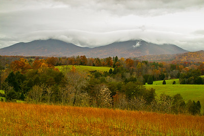 Peaks of Otter in Clouds ~ Blue Ridge Parkway ~ November 2002