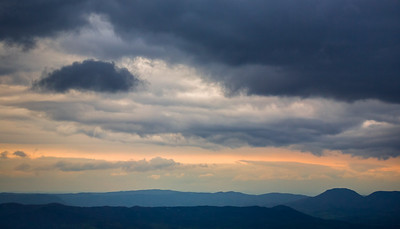 Evening Storm Clouds Over Blue Ridges