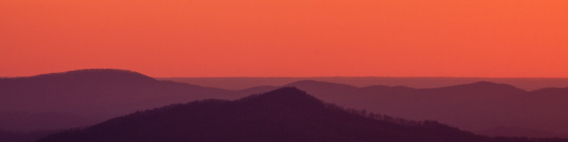 Orange Sky, Blue Ridge Parkway