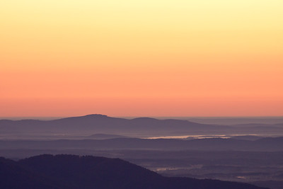 Sunrise at Apple Orchard Overlook ~ Blue Ridge Parkway