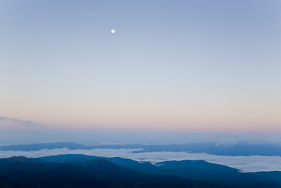 Moon Over Blue Ridges ~ Thunder Ridge Overlook, Blue Ridge Parkway