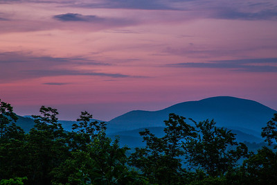 just before sunrise on northern part part of blue ridge parkway