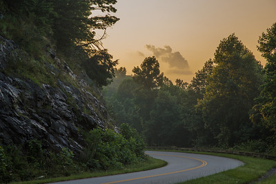 dawn in Mt. Pisgah region