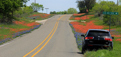 Wayne's Lincoln was a top notch way to see the Hill Country in all its spring glory.
