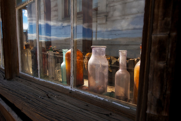 Bottles in the Window, Bodie, CA