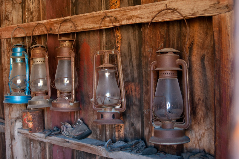 Lanterns in the fire station at Bodie California