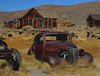 Extremely low humidity here keeps rust to a minimum on outdoor steel relics. Bodie, California, 9-25-09