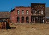 Matt and Lindsay checking out Bodie Calif. ghost town and the Post Office on Main Street. To the right of it is the Odd Fellows Lodge, (I.O.O.F.). A solid mile of one and two story buildings lined Main Street in its heyday.