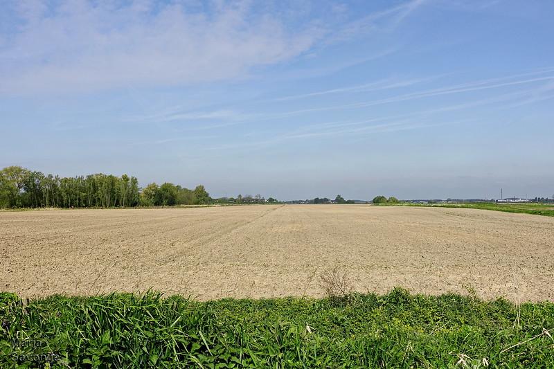 Farm land near the river