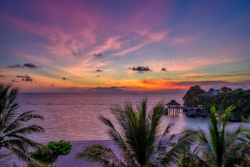 """Boracay Island White Sand Beach Sunset""  Philippines"