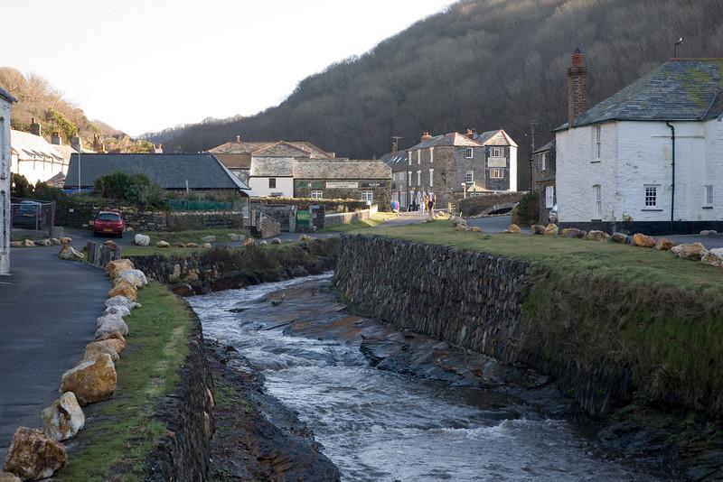 Boscastle in Cornwall UK